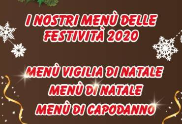 Menù delle festività 2020